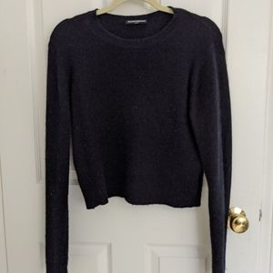 Soft black cropped jumper